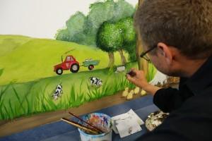 Billede Vægmaleri på Holbæk Sygehus Børneambulatoriet