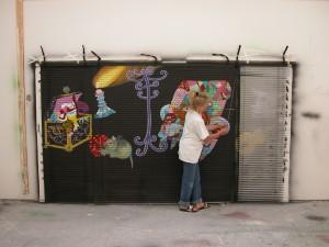 Billede maleri på persienner