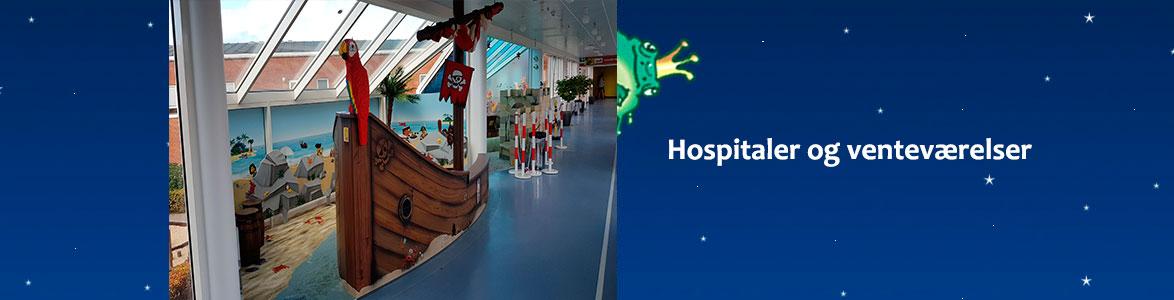Dekorationer af hospitaler samt venteværelser