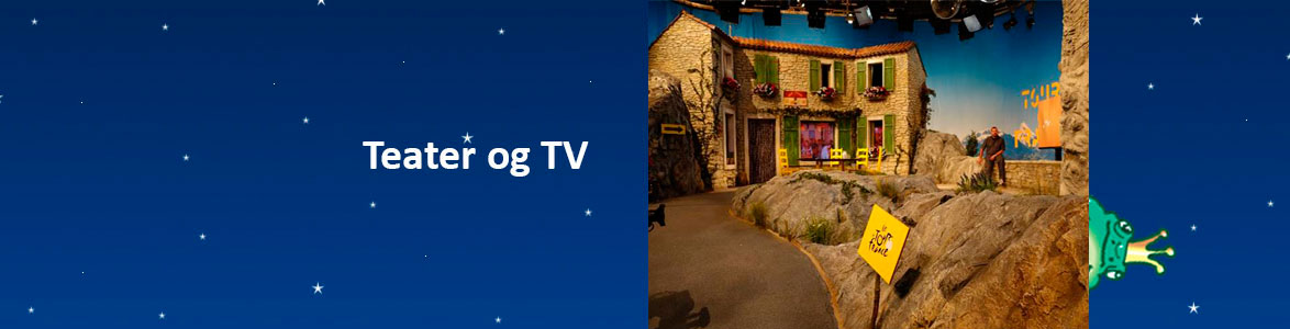 Teater, tv, kulisse opbygning i tv produktion