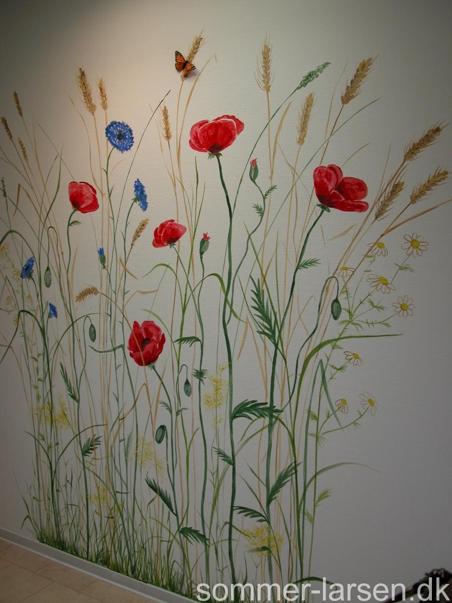 tandlæge-vericentret-århus-venteværelse-vægmaleri-Sommer-Larsen